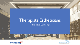 Spa – Therapists Estheticians