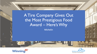 A Tire Company Gives Out The Most Prestigious Food Award - Here's Why