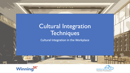 Culture Integration Techniques
