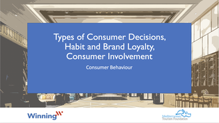 Types of Consumer Decisions, Habit and Brand Loyalty, Consumer Involvement