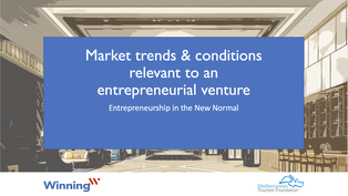 Market trends and conditions relevant to an entrepreneurial venture. Identify a business opportunity