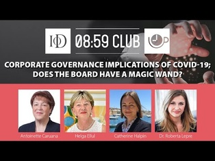 IoD Webinar | Corporate Governance implications of COVID-19: Does the Board have a magic wand?